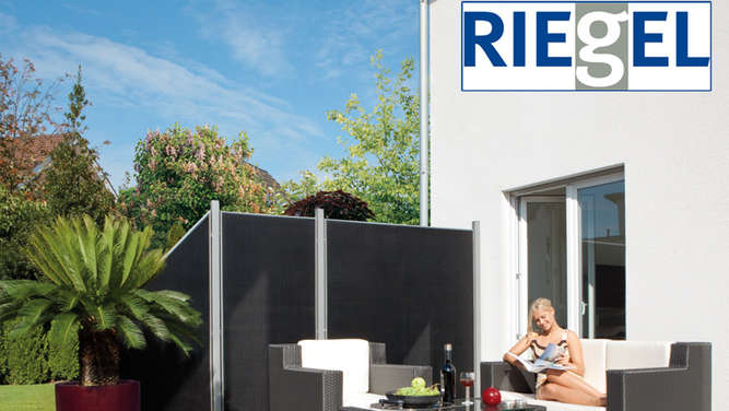 der neue riegel katalog f r garten terrassen sichtschutz. Black Bedroom Furniture Sets. Home Design Ideas