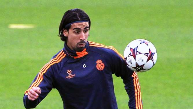 Sami Khedira Training Real Madrid