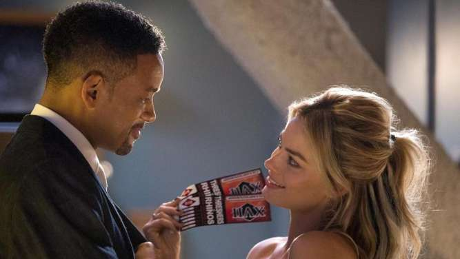 Nicky (Will Smith) und Jess (Margot Robbie). Foto: Frank Masi/Warner Bros. Pictures