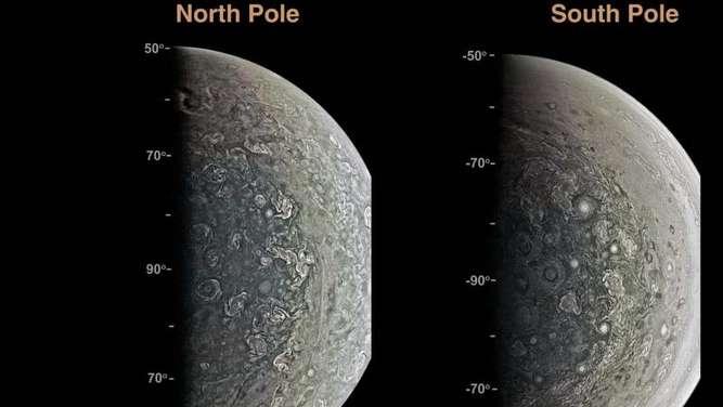 Jupitersonde Juno findet riesige Stürme und immenses Magnetfeld — NASA