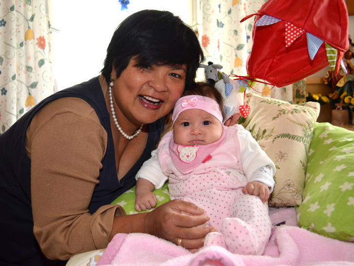 Papa-Tochter Familie Schlaganfall Irina deckt
