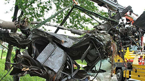 Horror-Crash: Das war mal ein BMW