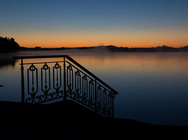 Sonnenaufgang waging am see