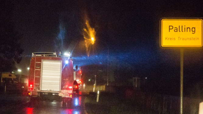 Waldbrand in Palling