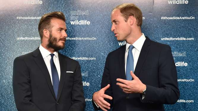 David Beckham und Prinz William