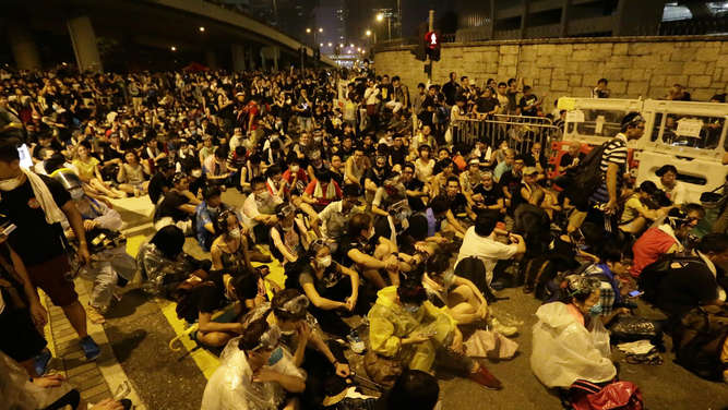 Hongkong Demonstranten