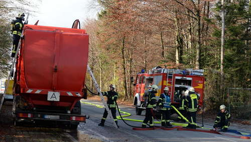 Lkw-Brand in Traunstein