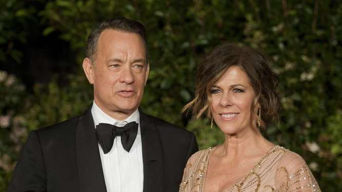 Tom Hanks mit Ehefrau Rita Wilson in London 2014. Foto: Will Oliver