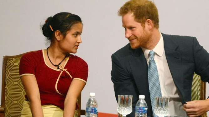 "Prinz Harry beim ""Nepal Girls Summit"" in Kathmandu. Foto: Prakash Mathema"