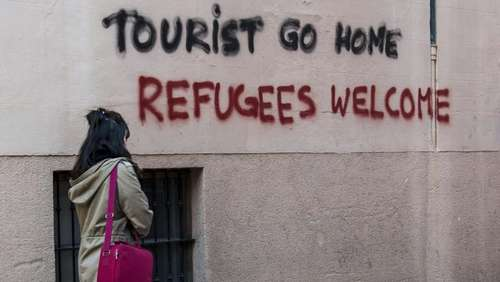 """Tourist go home"": Protest-Graffiti auf Mallorca"
