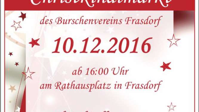 Christkindlmarkt Frasdorf am 10.12.2016