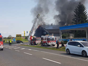 Großbrand in Ainring