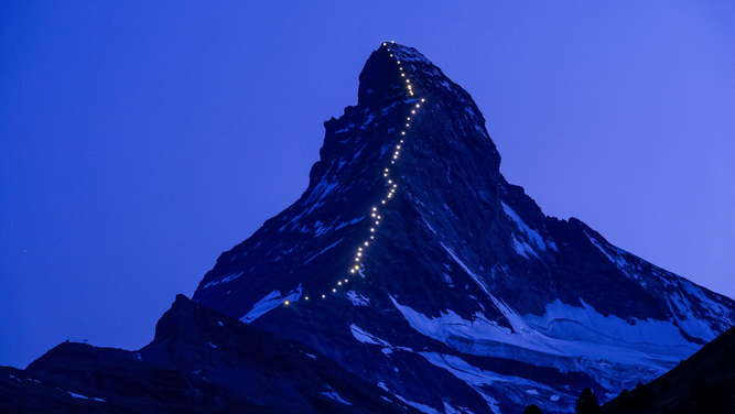 Celebrations for the first ascent of the Matterhorn mountain