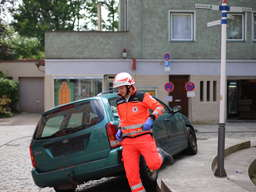 Übung der Rettungskräfte in der Trostberger Altstadt