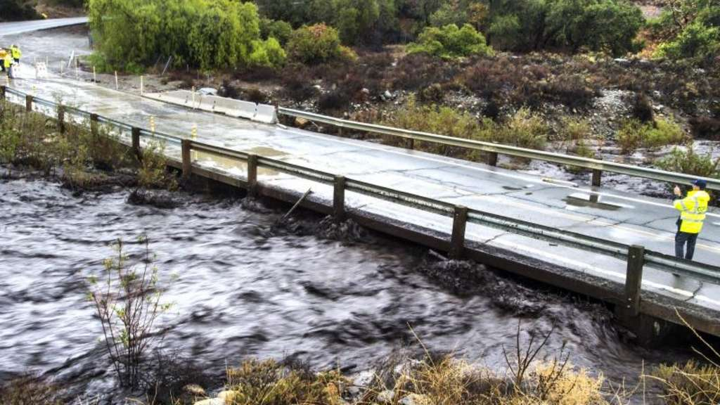 Hochwasser im Trabuco Canyon in Kalifornien. Foto: Mark Rightmire/The Orange County Register