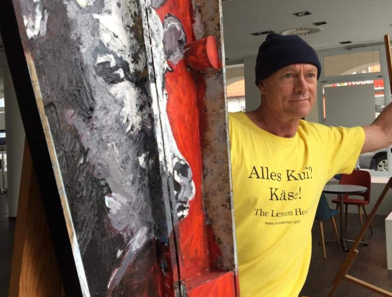Pete Kilkenny Der Kuh Maler Aus Tittmoning Stellt In Waging Aus