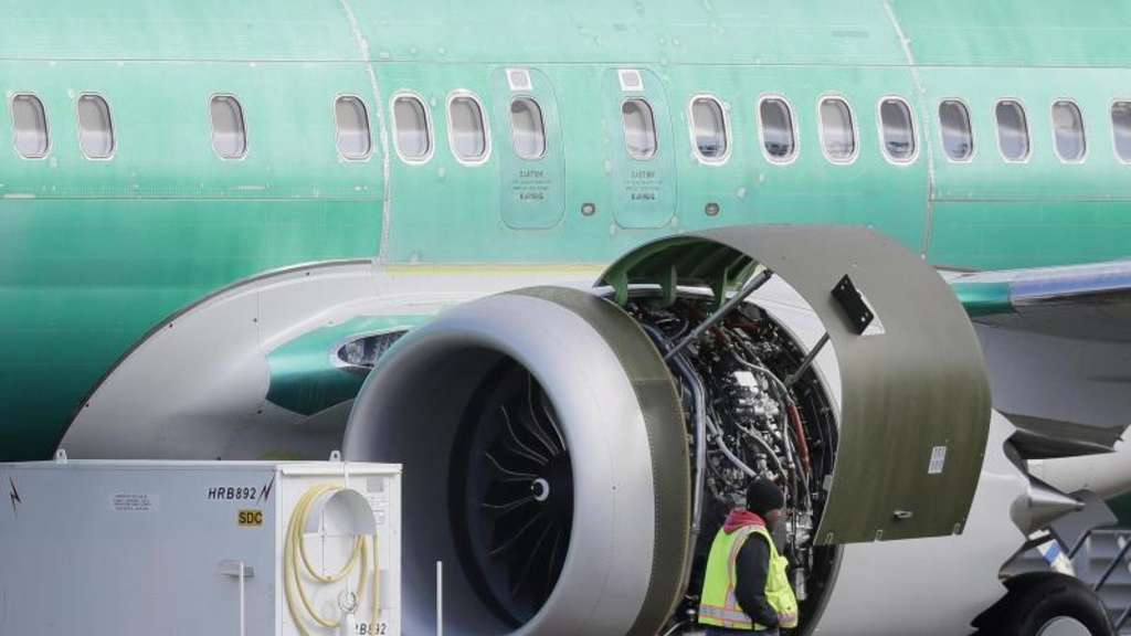 Boeing 737 Max 8 im Fertigungswerk in Renton. Foto: Ted S. Warren/AP
