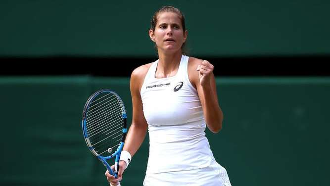 Bekommt es in Wimbledon mit Serena Williams zu tun: Julia Görges. Foto: Nigel French/PA Wire