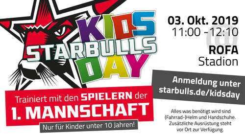 Starbulls KidsDay 2019 am 3. Oktober