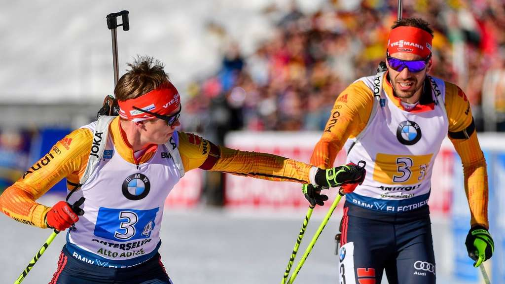 Biathlon: Benedikt Doll (links) und Arnd Peiffer