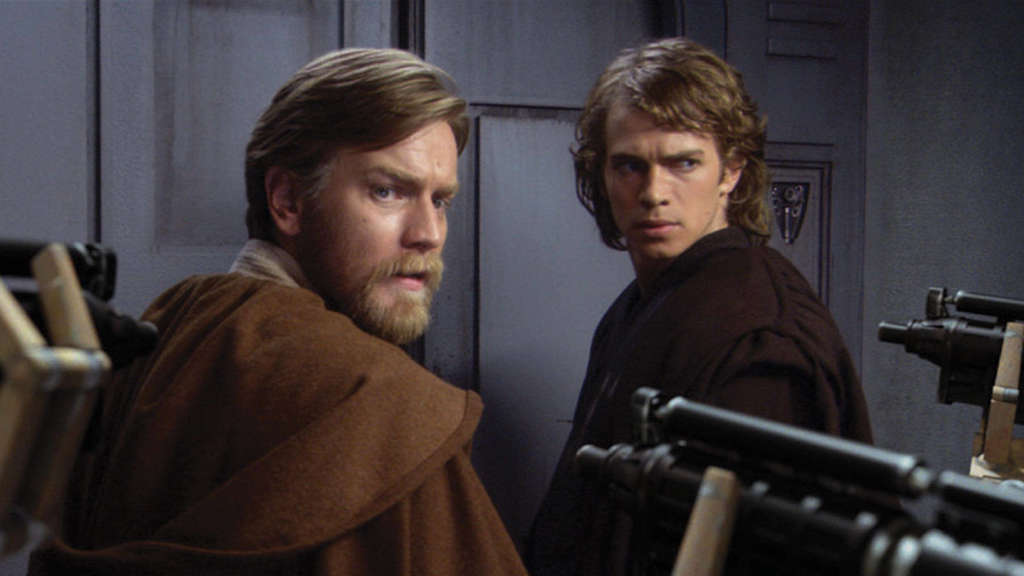 "Obi-Wan Kenobi und Anakin Skywalker in ""Star Wars""."